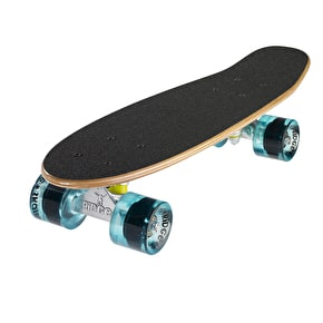 Ridge Mini Cruiser Skateboard - Number Four Dark Dye/Clear Blue 22