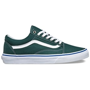 Vans Old Skool Skate Shoes - Green Gables/True White