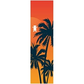 Grizzly Laguna Cutout Skateboard Grip Tape - Orange