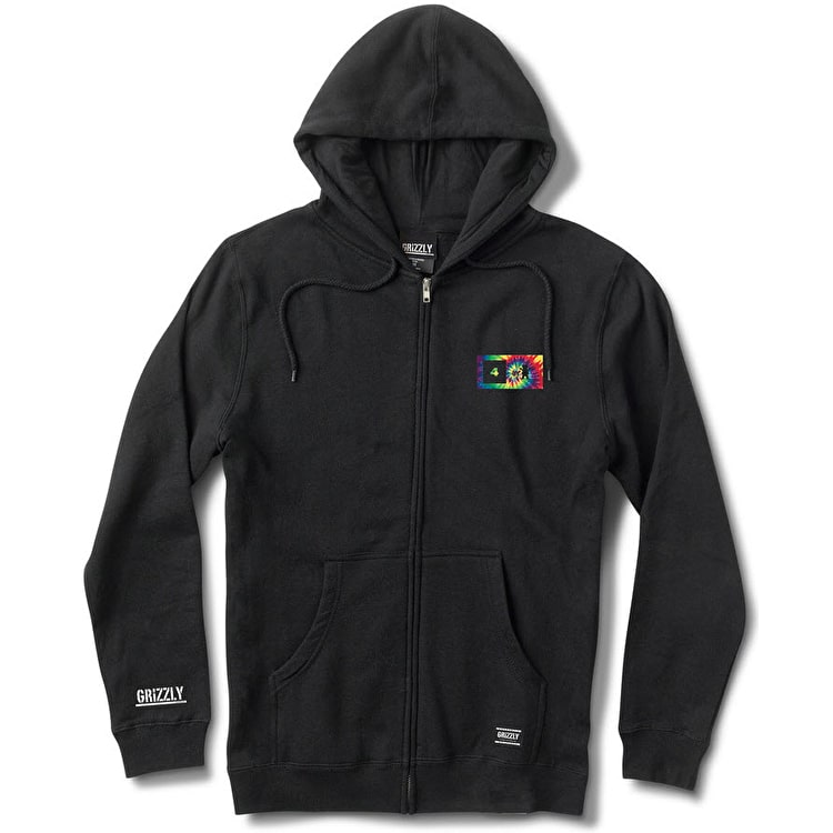 Grizzly x Fourstar Tie-Dye Pirate Zip Hoodie - Black