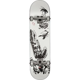 Globe G1 Hard Luck Complete Skateboard - White/Black - 8