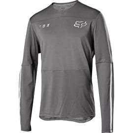 Fox Flexair Delta Long Sleeve Jersey - Grey Vintage