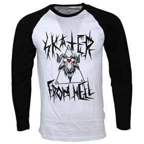 Skatanist- Skater From Hell BaseBall Tee