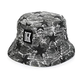 DGK Unfollow Bucket Hat - Black Stars
