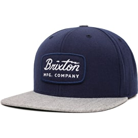 Brixton Jolt Snapback Cap - Navy/Heather Grey