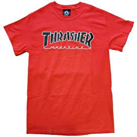 Thrasher Outlined T Shirt - Red