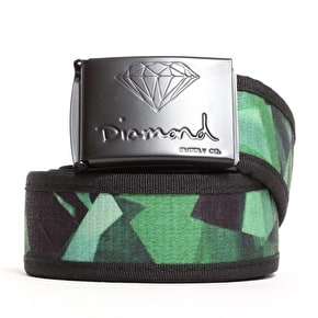 Diamond OG Script Brilliant Clamp Belt - Green