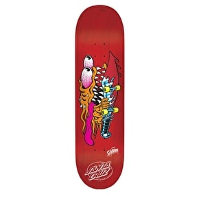 Santa Cruz Slasher EightTwo Team Skateboard Deck - Red 8.2