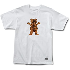 Grizzly Tiger Stripe OG Bear T Shirt - White
