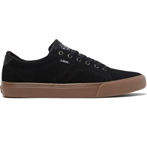 Lakai Flaco Skate Shoes - Black/Gum Suede
