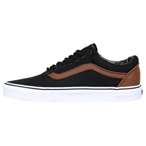 Vans Old Skool Skate Shoes - (C&L) Black/Material Mix