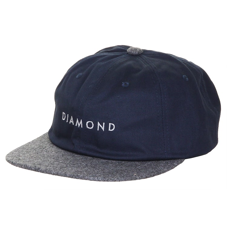 Diamond Leeway Unstructured Snapback Cap - Navy