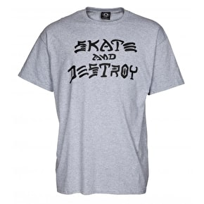 Thrasher Skate And Destroy T-Shirt - Grey