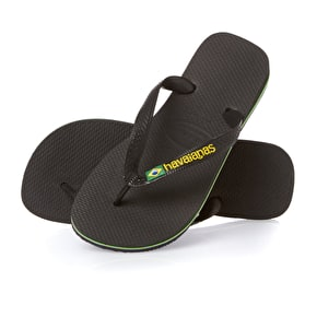Havaianas Brazil Logo UK Junior 11 - Black (B-Stock)