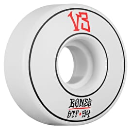 Bones Annuals V3 Skateboard Wheels - White 54mm (Pack of 4)
