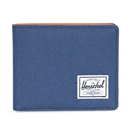 Herschel Hank RFID Wallet - Navy/Tan Synthetic Leather