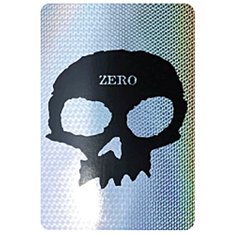 Zero Single Skull Skateboard Sticker - Prism 6""