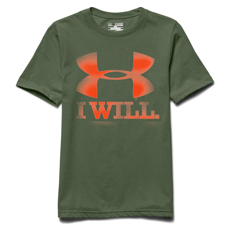 Under Armour CC Kids Contender T-Shirt - Kale/Toxic