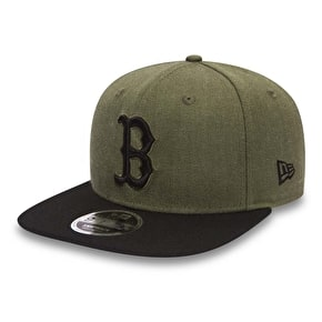 New Era MLB Seasonal Heather Cap - Boston Red Sox - Army/Black