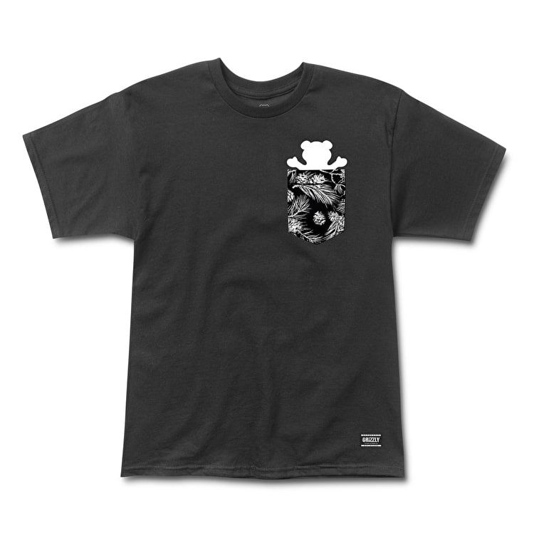 Grizzly Summer Crop Pocket T-Shirt - Black