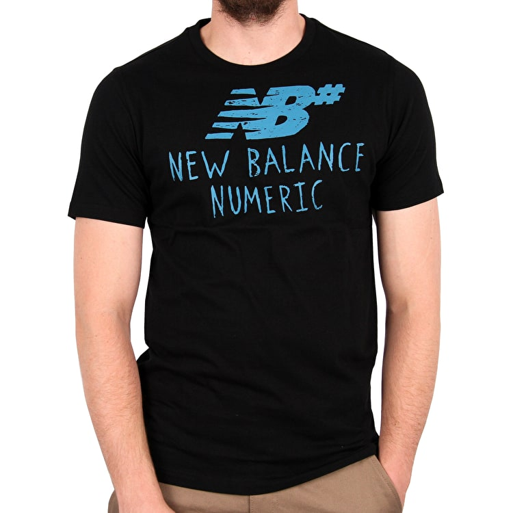 New Balance Hand Drawn T-Shirt - Black/Blue