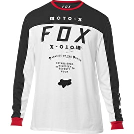 Fox Fctry Airline Long Sleeve T Shirt - Optic White