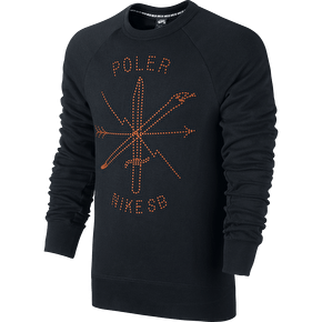 Nike SB x Poler Icon Crew Sweater - Black/Orange