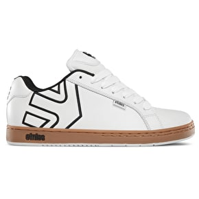 Etnies Fader Skate Shoes - White/Gum