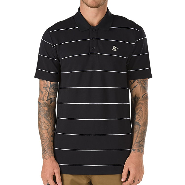 Vans AV Blueline Polo Shirt - Black