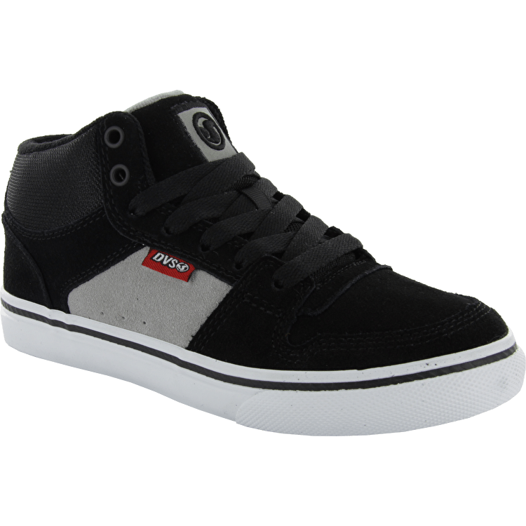DVS Clip Youth Skate Shoes - Black/Grey Suede