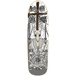Heroin Skateboard Deck - Deerman Skeletal White Mock 9.5