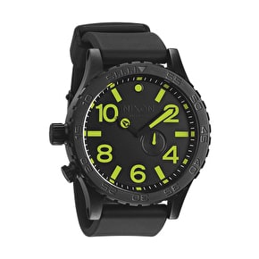 Nixon 51-30 PU Watch - All Black/Luminous