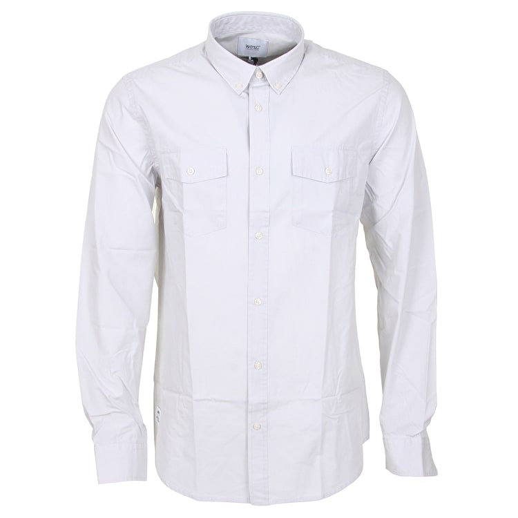 WeSC Ivo Long Sleeve Shirt - Moon Beam