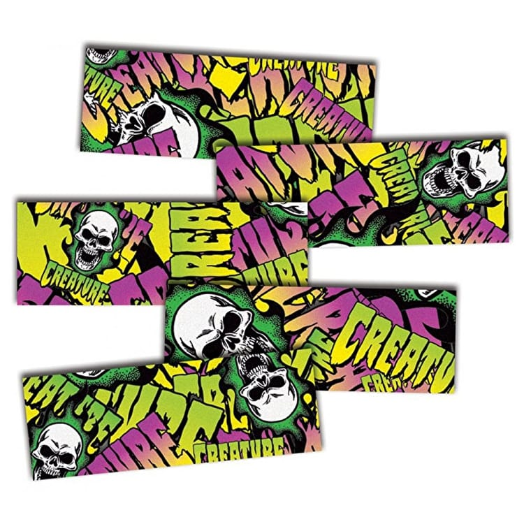 "MOB Skateboard Grip Strips - Creature Logo Collage 9"" (5 Pack)"