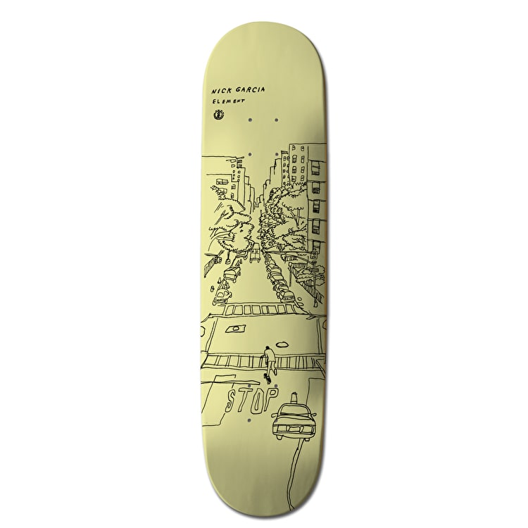 Element Sketch Skateboard Deck - Garcia 8.1""