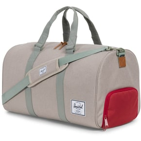 Herschel Novel Duffle Bag - Light Khaki Crosshatch/Shadow/Red