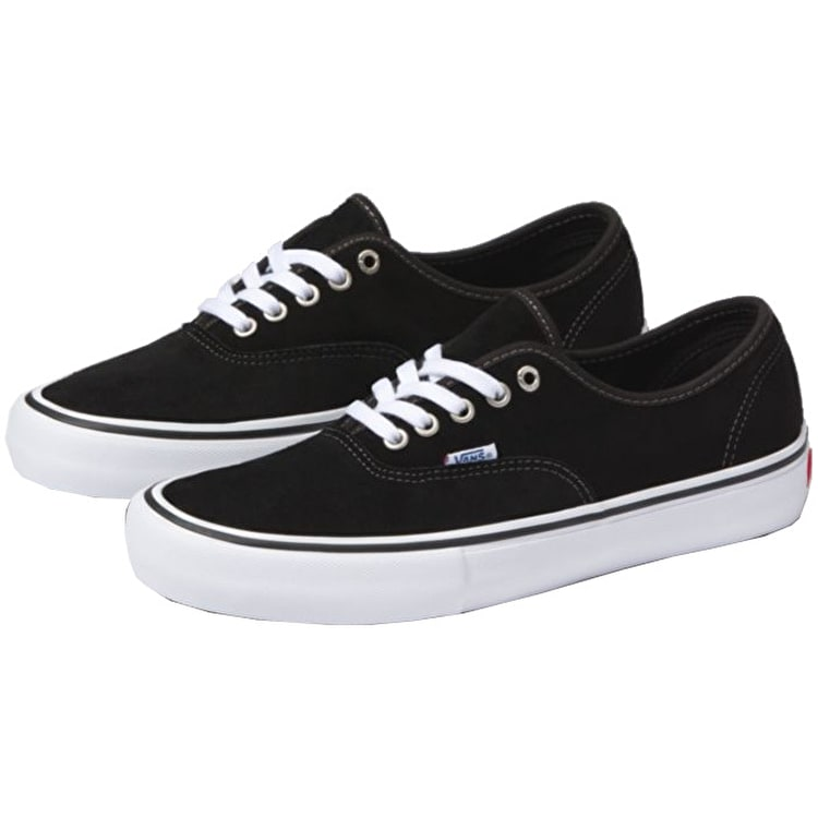 Vans Authentic Pro Skate Shoes - (Suede) Black