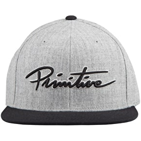 Primitive Nuevo Script Snapback Cap - Heather