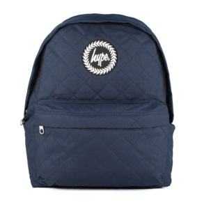 Hype Quilted Backpack-Navy