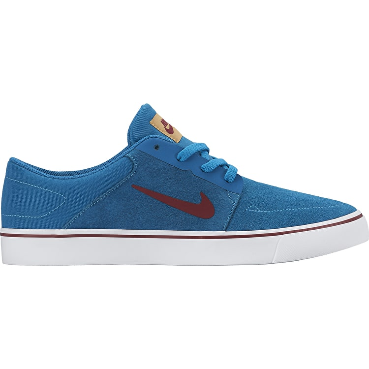 Nike SB Portmore Kids Shoes - Green Abyss/Team Red
