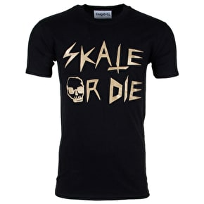 Skatanist Skate or Die T-Shirt - Black