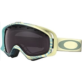 Oakley Crowbar Snow Goggles - Animalistic Turquoise/Black Rose Iridium