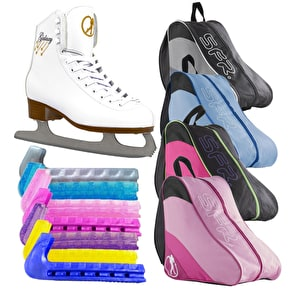 SFR Galaxy Ice Skate Bundle - White