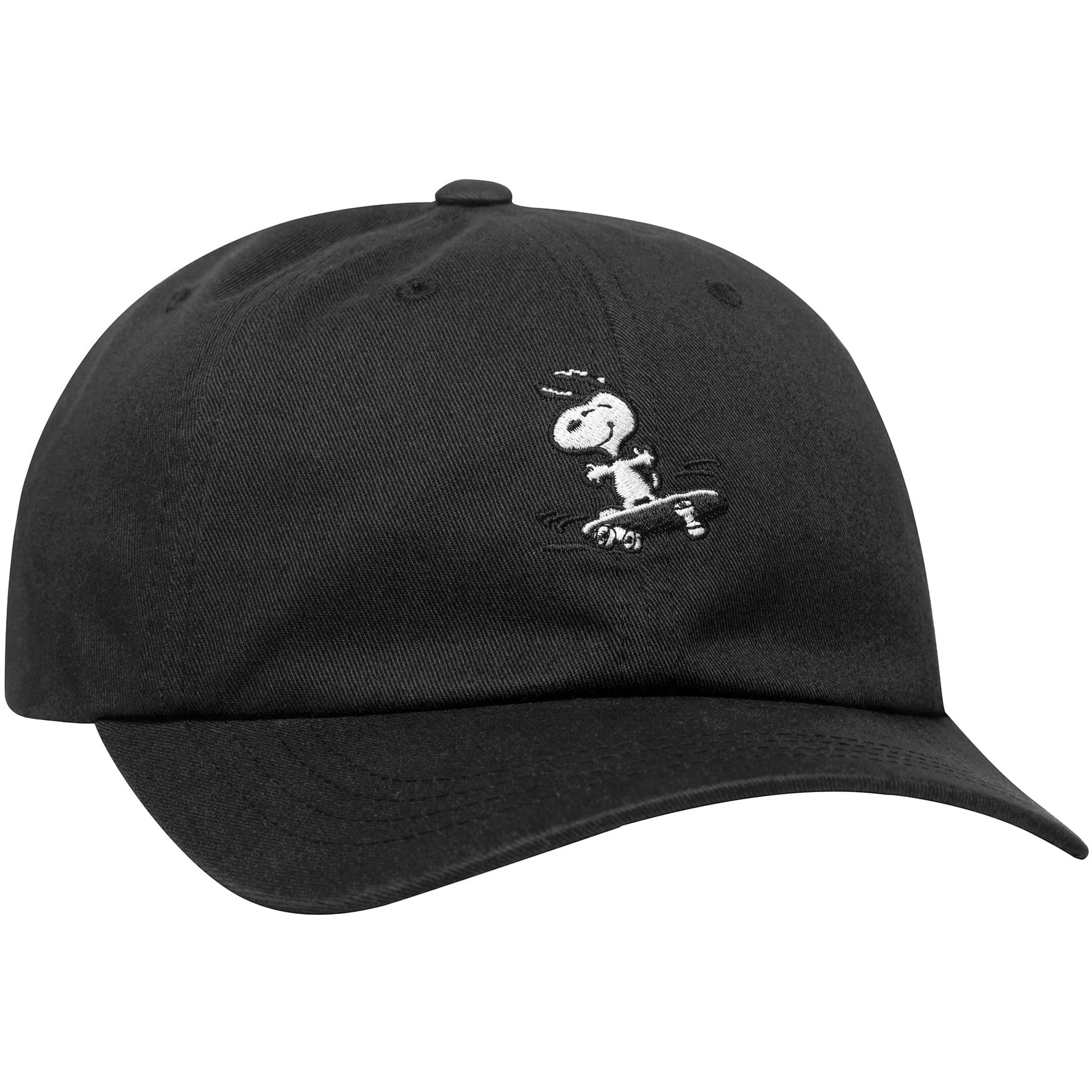 Huf X Peanuts Snoopy SK8 6 Panel Canvas Cap - Black