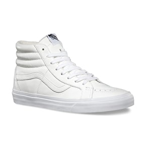 Vans Sk8-Hi Reissue Shoes - (Premium Leather) White