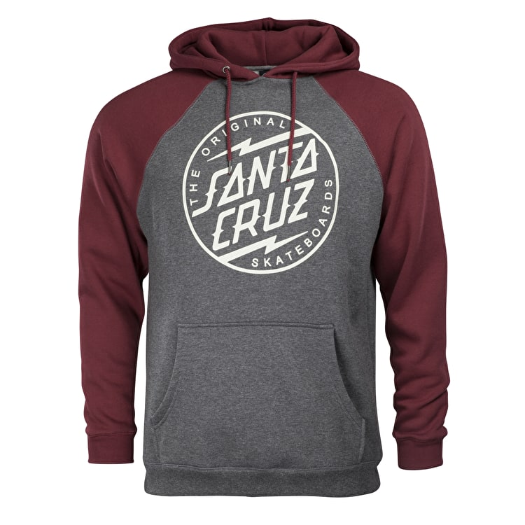 Santa Cruz Bolt Dot Hoodie - Charcoal Heather/Blood