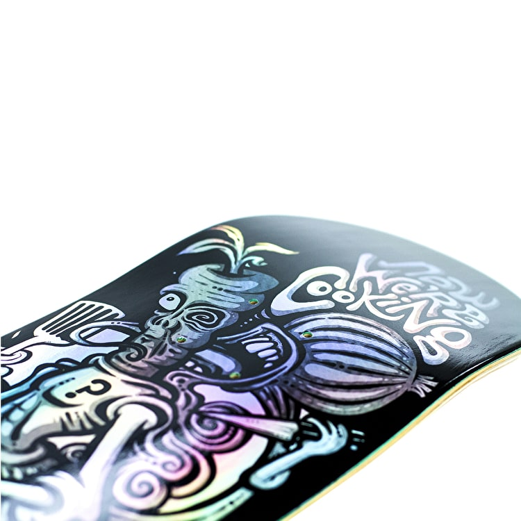 Enuff Now We're Cooking Skateboard Deck - Black 8""
