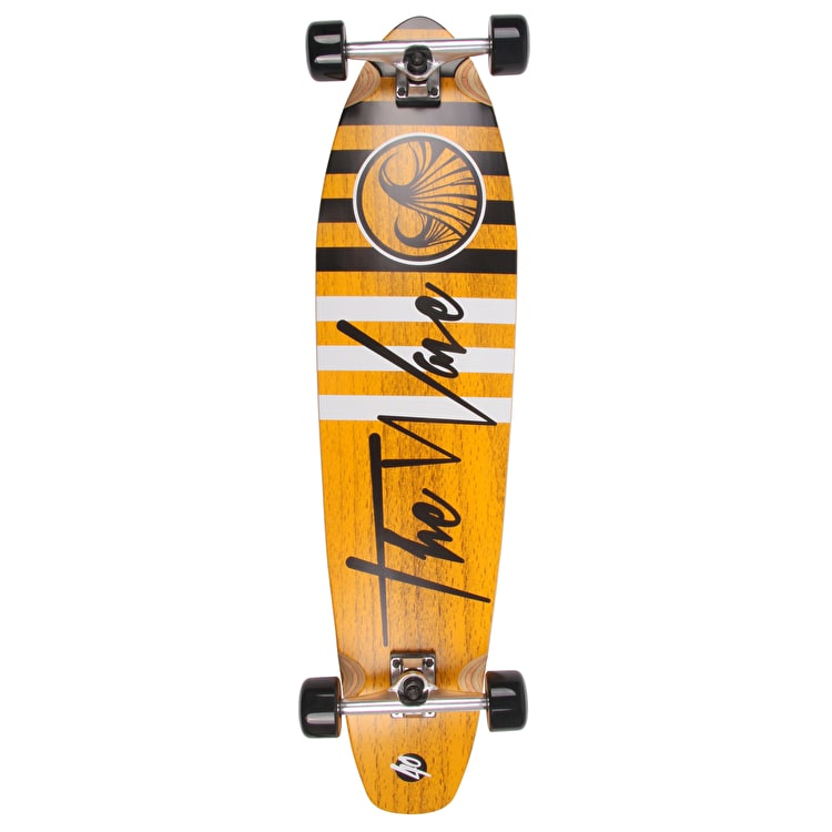 "WAVE40 Striper 40"" Complete Longboard - Orange"