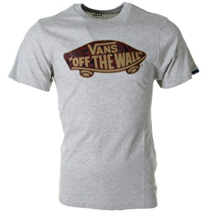 Vans OTW Logo Fill T-Shirt - Oatmeal Heather/Bordeaux