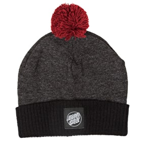 Santa Cruz Crank Bobble Beanie - Grey Heather/Black